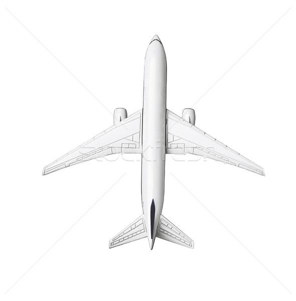 Miniatűr modell kereskedelmi utazás levegő szállítás Stock fotó © dezign56