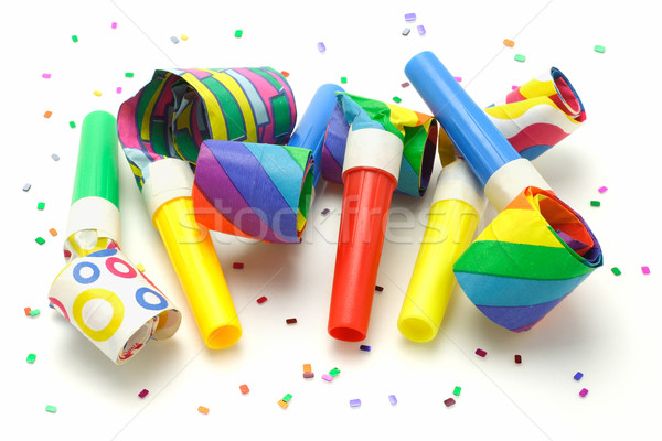 Multicolor party blowers  Stock photo © dezign56