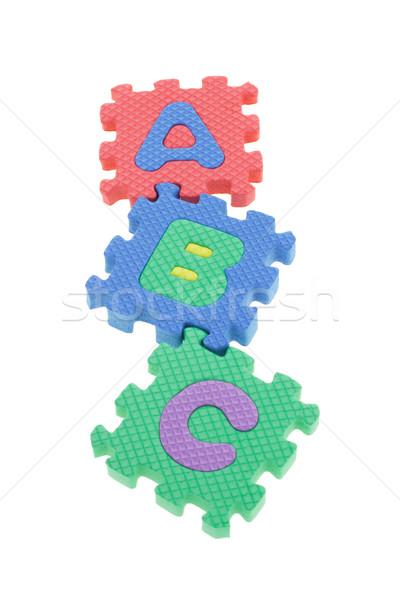 Colorido rompecabezas bloques escuela educación grupo Foto stock © dezign56