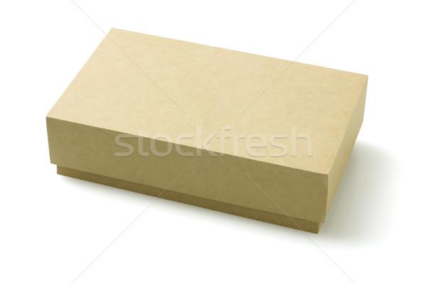 Carton emballage boîte fermé blanche présents Photo stock © dezign56