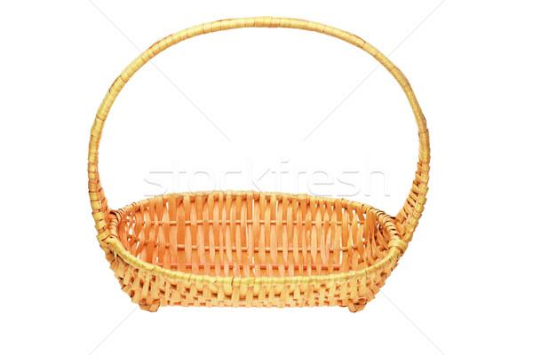 Empty cane basket Stock photo © dezign56