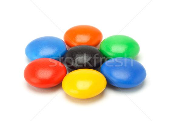 красочный кнопки конфеты шоколадом белый продовольствие Сток-фото © dezign56
