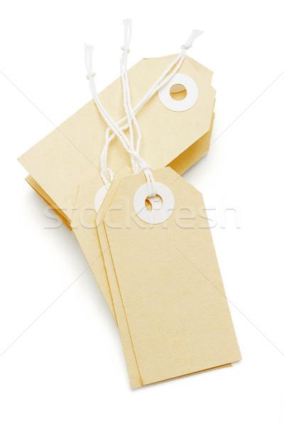 Этикетки строку белый торговых группа билета Сток-фото © dezign56