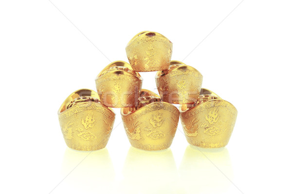 Chinese gold ingots Stock photo © dezign56