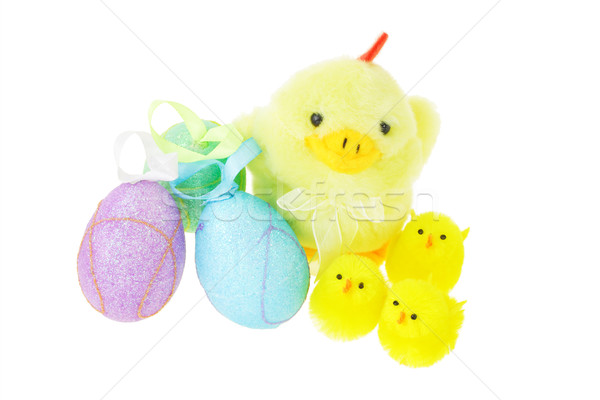イースター 黄色 雛 母親 めんどり 白 ストックフォト © dezign56