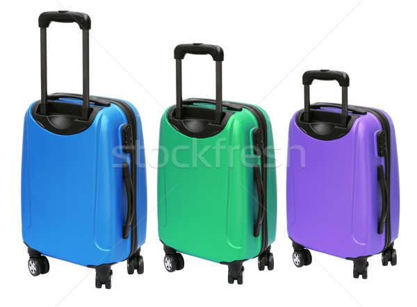 Colourful Luggages with Wheels Stock photo © dezign56