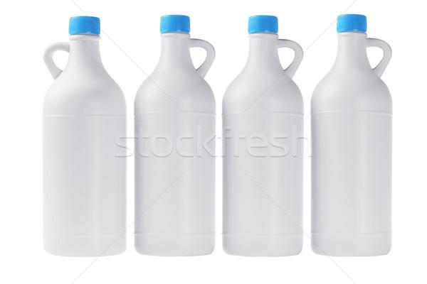 Branco plástico detergente garrafas garrafa Foto stock © dezign56