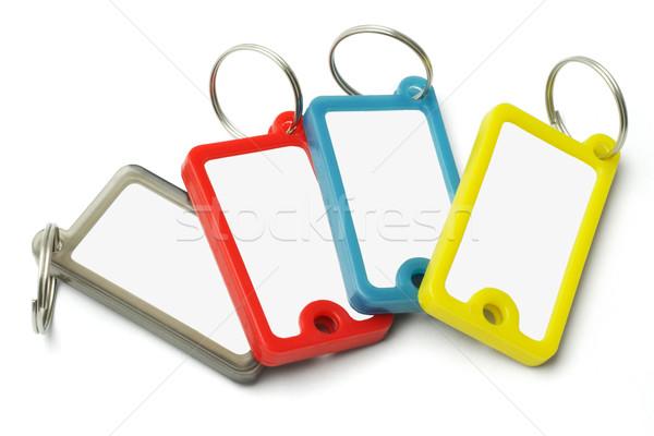 пластиковых ключевые Этикетки белый служба дома Сток-фото © dezign56