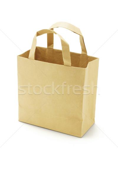Brown empty paper bag  Stock photo © dezign56
