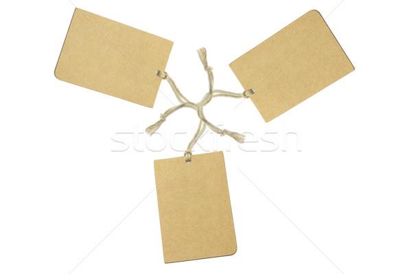 три коричневый бизнеса текстуры веревку Сток-фото © dezign56