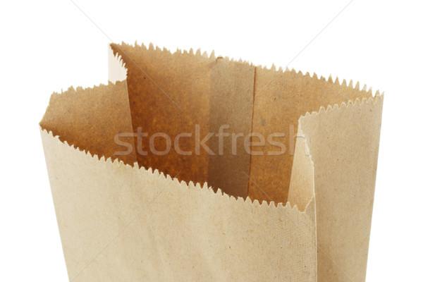 Open top vuota carta marrone bag Foto d'archivio © dezign56