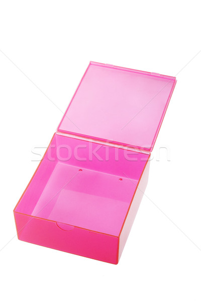 Nyitva műanyag doboz piros fehér konténer Stock fotó © dezign56