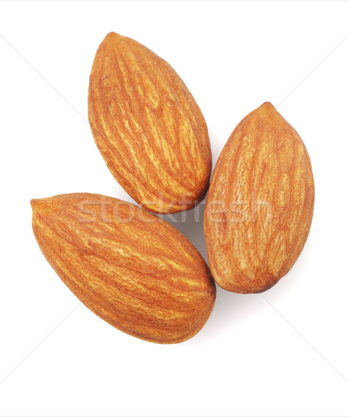 свежие миндаль орехи три белый природы Сток-фото © dezign56