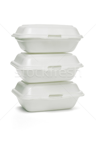 Stock photo: Styrofoam takeaway boxes