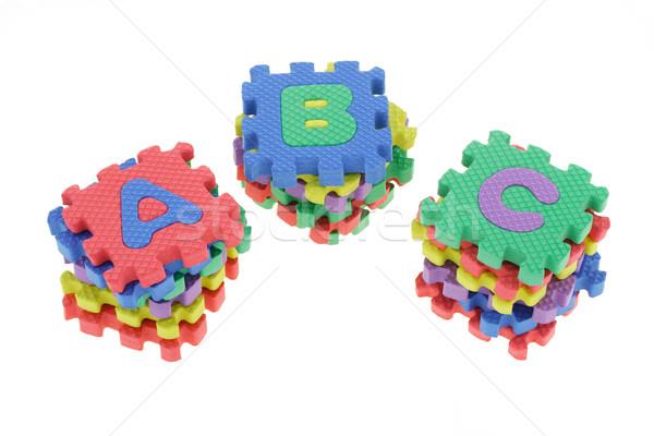 Renkli bilmece bloklar okul eğitim Stok fotoğraf © dezign56