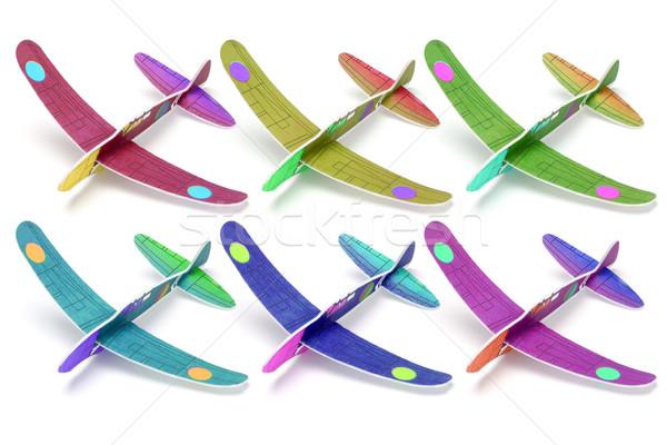 Styrofoam toy aeroplanes Stock photo © dezign56