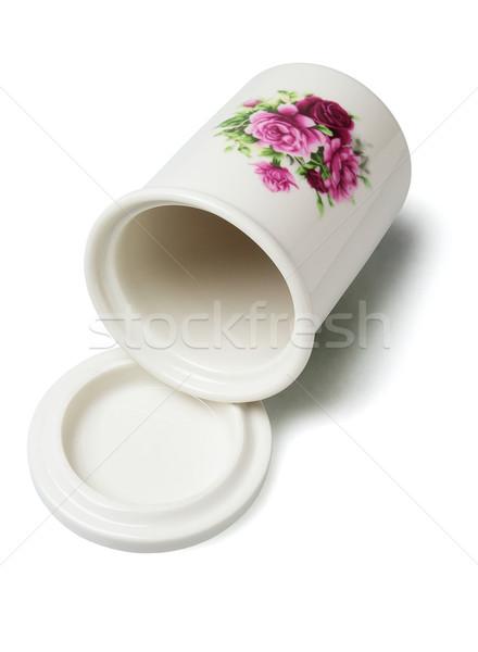 Keramische container bloem decoratie lege Stockfoto © dezign56