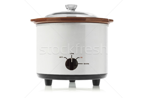 électriques lent alimentaire verre métal objet Photo stock © dezign56
