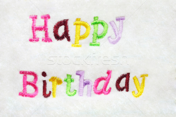colorful Happy Birthday embroidery Stock photo © dezign56