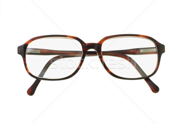 Eski moda plastik gözlük beyaz Stok fotoğraf © dezign56