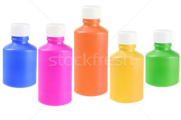 Colourful Liquid Medicine Plastic Bottles Stock photo © dezign56
