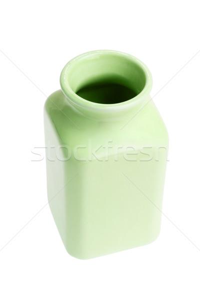 Vuota porcellana contenitore bianco verde bottiglia Foto d'archivio © dezign56