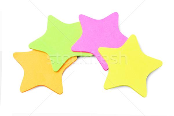 звездой форма бумаги оранжевый зеленый Сток-фото © dezign56