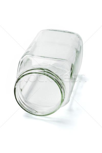 空っぽ ガラス コンテナ オープン 孤立した 白 ストックフォト © dezign56