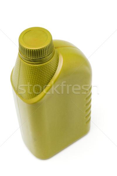 Motorolaj konténer citromsárga fehér üveg szín Stock fotó © dezign56