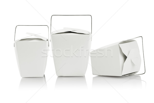 Three Takeaway Food Containers Stock photo © dezign56