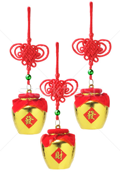 Chinese Golden Pot Ornaments Stock photo © dezign56