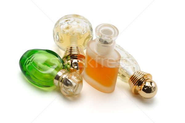 духи стекла бутылок белый зеленый бутылку Сток-фото © dezign56
