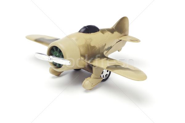 Játék katonaság repülőgép álca festék fehér Stock fotó © dezign56