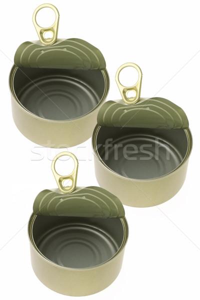 открытых пусто олово мнение продовольствие контейнера Сток-фото © dezign56