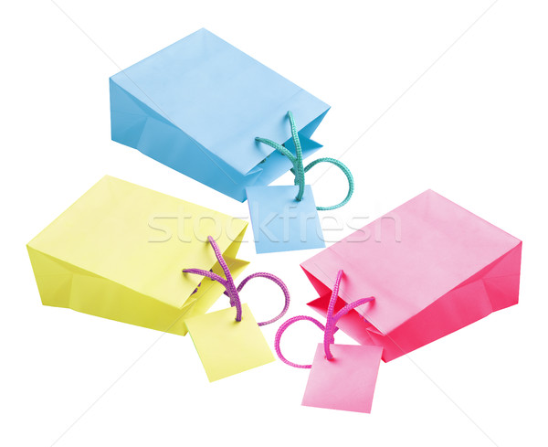 Paper Bags With Tags Stock photo © dezign56