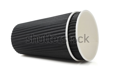 Black Disposable Paper Cup Stock photo © dezign56