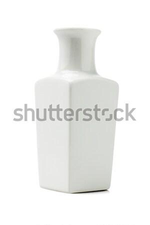 Porcelana Wazon chińczyk biały projektu pojemnik Zdjęcia stock © dezign56