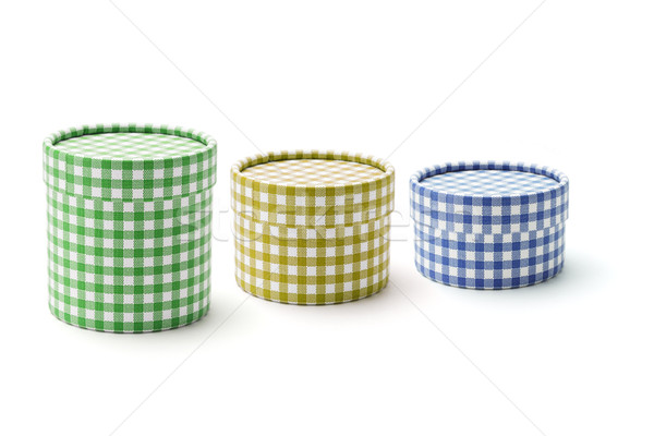 Chequer round gift boxes  Stock photo © dezign56