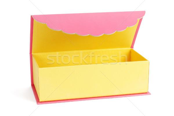 Китайский Новый год шкатулке белый бумаги красный подарок Сток-фото © dezign56