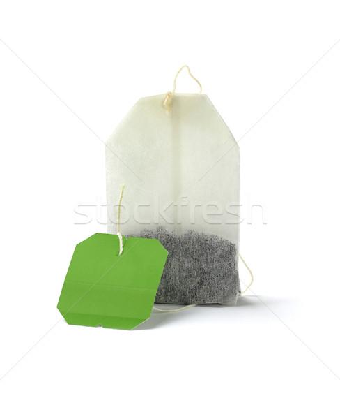 чай сумку Label зеленый чай белый бумаги Сток-фото © dezign56