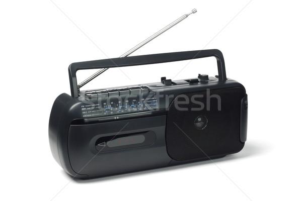 Radyo kaset oyuncu beyaz ev Stok fotoğraf © dezign56