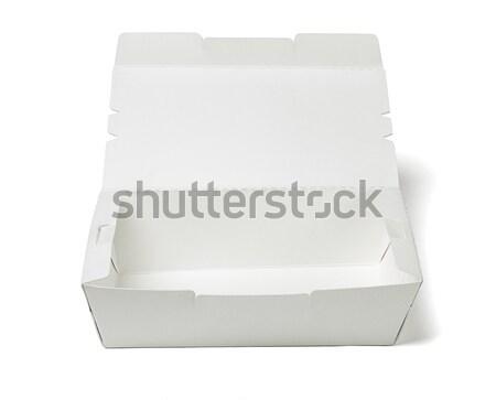 Kutuları beyaz doku konteyner nesne Stok fotoğraf © dezign56