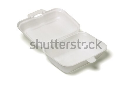 Open empty Styrofoam takeaway box Stock photo © dezign56