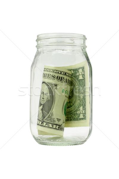 последний доллара один сведению открытых стекла Сток-фото © dezign56