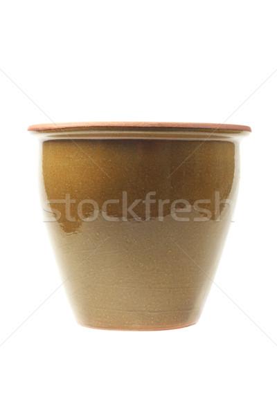 Vide blanche jardin pot poterie Photo stock © dezign56