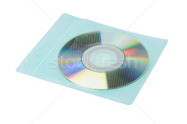 Płyta cd plastikowe kopercie kieszeni biały technologii Zdjęcia stock © dezign56