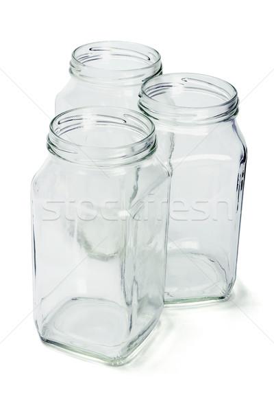 три пусто стекла открытых группа бутылку Сток-фото © dezign56