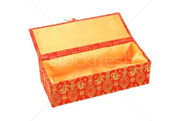 пусто шкатулке красный Китайский Новый год цветочный Сток-фото © dezign56