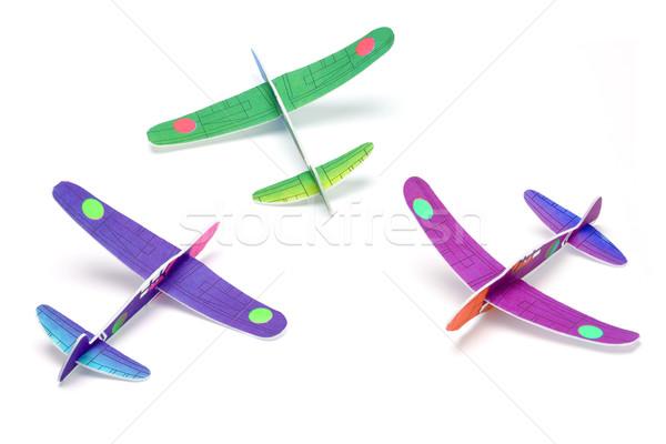 Játék három modell csoport repülőgép repülőgép Stock fotó © dezign56
