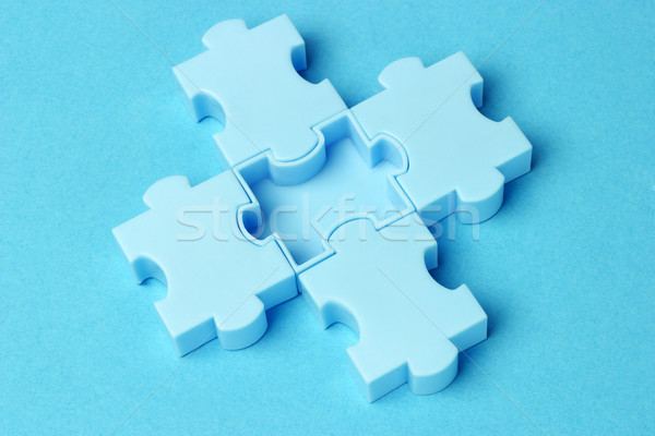 Blue jigsaw puzzles  Stock photo © dezign56